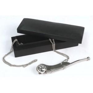 Nickel/Black Finish - Bosun Whistle in Box