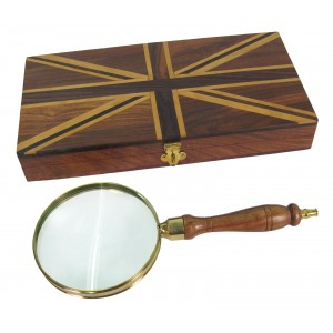 Magnifying Glass Union Jack Inlaid Box