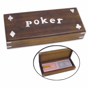 Poker Box with 2 Sets of Cards Included