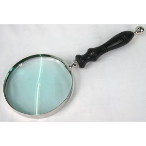 Magnifying Glass with Black Handle