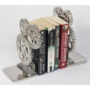Aluminium Cog Bookends