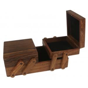 Sheesham Wood Flexible Jewellery Box