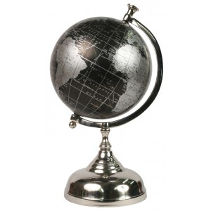 World Globe on Aluminium Stand Dia 19cm