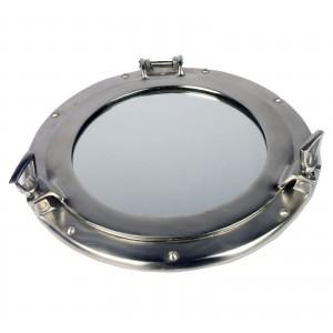 Porthole Mirror Pewter