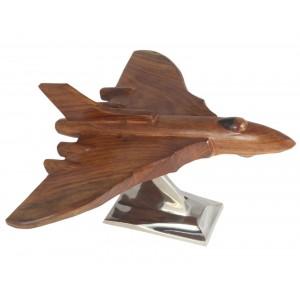 Wood Vulcan Plane With Aluminium Base 32cm
