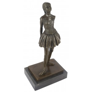 Bronze Ballerina Stretching On Marble Base 38cm