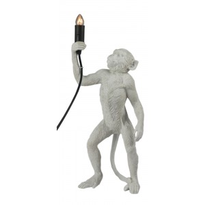 Monkey Holding Candle Lamp