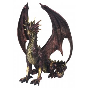 Dark Purple & Gold Dragon 30.5cm