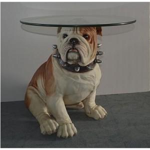 Glass Top Bull Dog Table