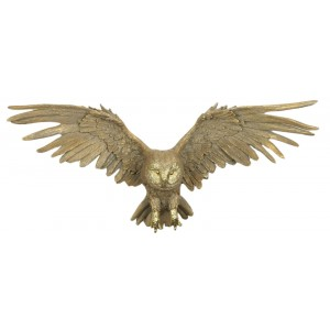 Gold Owl Wings Outstretched Wall Art - 58cm