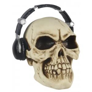 Skull With Headphones 21.5cm