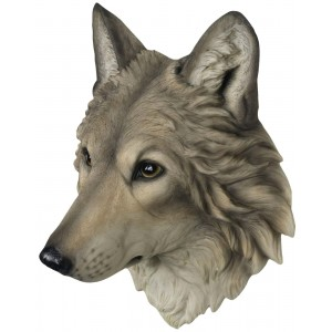 Wolf Head Wall Hanging 34.5cm