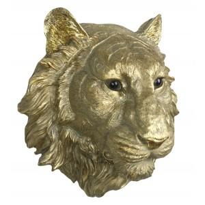Gold Tiger Head Wall Art 37.5cm