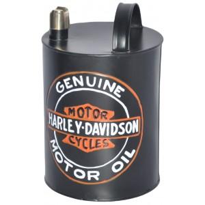 Harley Davidson Oil Can Round - 22cm