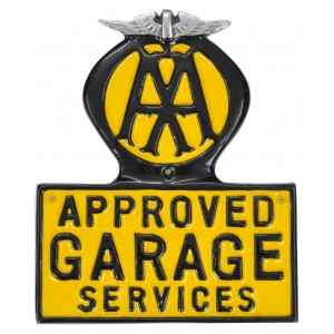 AA Approved Garage Wall Aluminium Plaque 29cm