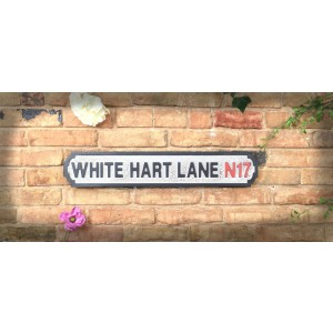 Vintage Road Sign White Hart Lane N17 (Tottenham Hotspur FC)