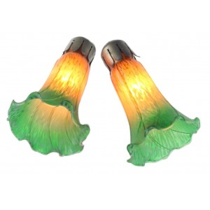 Pond Lily Shades - Amber/Green (243011) PAIR