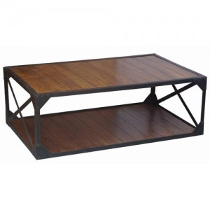 Acacia Lisbon Iron Frame Coffee Table