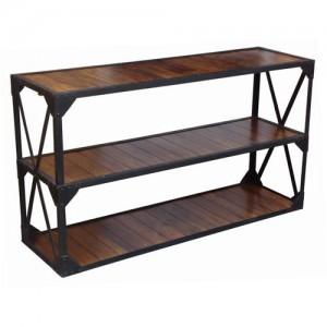 Acacia Lisbon Iron Frame Console Table