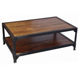 Acacia Lisbon Iron Legged Coffee Table