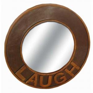 Acacia Lisbon Laugh Round Mirror