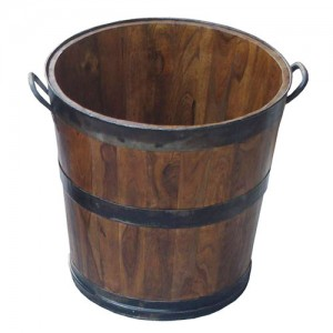Acacia Lisbon Fire Log Basket - Large