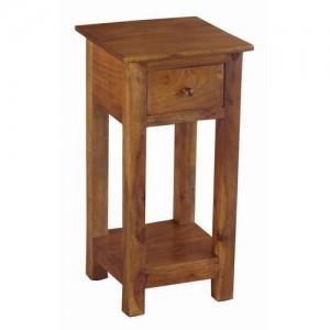 Acacia Lisbon Plant Telephone Side Table - 299857