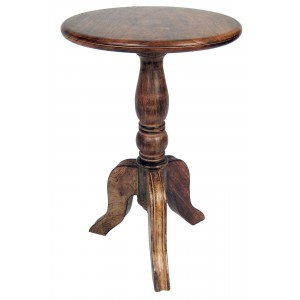 Mango Wood Round Wine Side Table