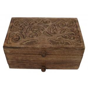 Mango Wood Tree Of Life Design Jewellery Box