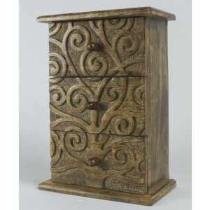 Mango Wood 3 Drawer Tree Of Life Chest