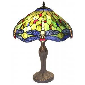 Dragonfly Tiffany Table Lamp (Large) + Free Bulbs