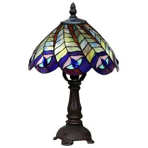 Peacock Tiffany Table Lamp - 30cm