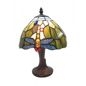 Dragonfly Tiffany Table Lamp (Small) + Free Bulb