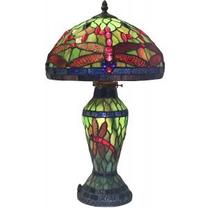 Dragonfly Table Lamp Shade & Base 43cm + Free Bulbs