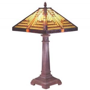Pyramid Tiffany Table Lamp - 53cm