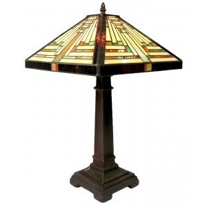 Pyramid Deco Tiffany Table Lamp - 53cm