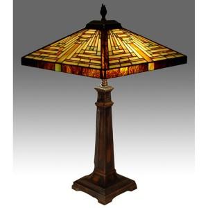 Pyramid Tiffany Table Lamp - 62cm