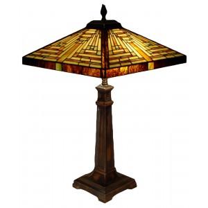 Pyramid Deco Style Tiffany Table Lamp - 62cm