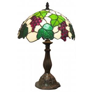 Grape Tiffany Table Lamp + Free Bulb - 30cm