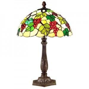Grape Tiffany Table Lamp (Large) + Free Bulbs