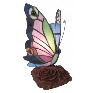 Butterfly Tiffany Lamp + Free Bulb - 23cm