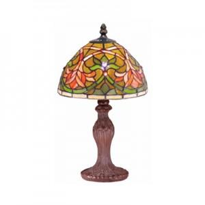 Fleur De Lye Tiffany Lamp (Small) + Free Bulb