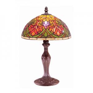Fleur De Lye Tiffany Lamp (Medium) + Free Bulb