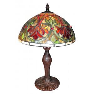 Fleur De Lye Tiffany Lamp (Large) + Free Bulbs