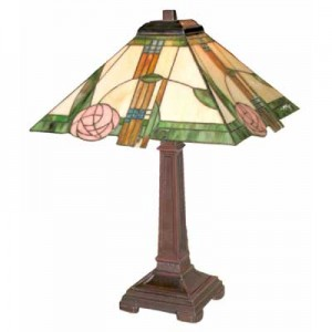 Tiffany Style Mackintosh Lamp (Med) + FREE BULB