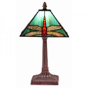 Dragonfly Tiffany Table Lamp Free Bulb - 38cm