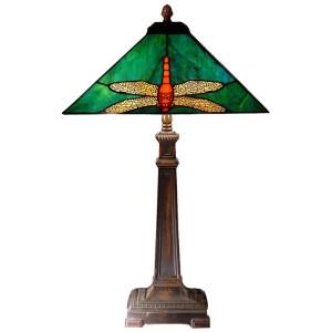 Dragonfly Tiffany Table Lamp Free Bulb - 67cm