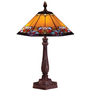 Aztec Tiffany Table Lamp + Free Bulb