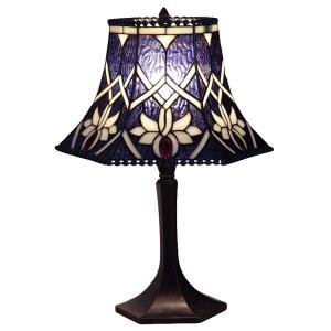 Blue Cross Open Top Tiffany Table Lamp (Small) + Free Bulb