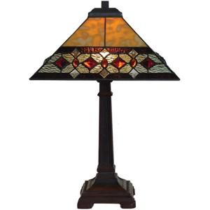 Art Deco Pyramid Diamond Design Tiffany Lamp Free Bulb